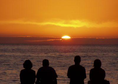 Viewers watching the sunrise